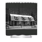 Days Of Yore Log Cabin Shower Curtain