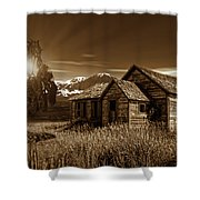 Days Of Yore Shower Curtain