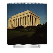 Daytime View Of The Lincoln Memorial Shower Curtain