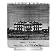 D.c.: White House, 1820 Shower Curtain