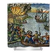 De Bry: Chicora, 1590 Shower Curtain
