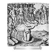De Bry: Magician, 1591 Shower Curtain