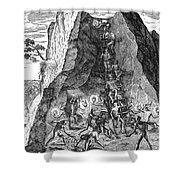 De Bry: Potosi, 1590 Shower Curtain