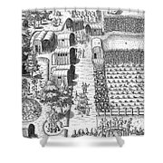 De Bry: Secoton Village Shower Curtain