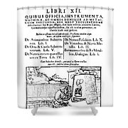 De Re Metallica, Title Page, 16th Shower Curtain by Science Source