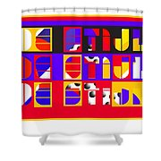 De Stijl Shower Curtain