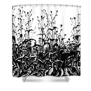 De Vries Experimental Garden Shower Curtain