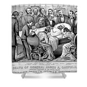 Death Of Garfield, 1881 Shower Curtain by Photo Researchers