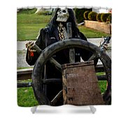 Death Steers The Ship Shower Curtain