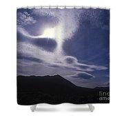 Death Valley Clouds Shower Curtain