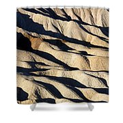 Death Valley Erosion Shower Curtain
