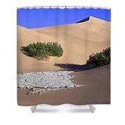 Death Valley Salt Flat Shower Curtain