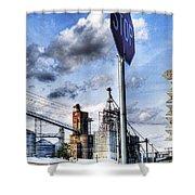 Decatur Alabama Industrial District Shower Curtain