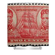 Decatur And Macdonagh Postage Stamp Shower Curtain
