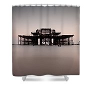 Decaying Pier Shower Curtain