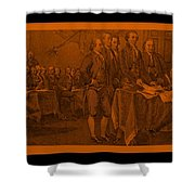 Declaration Of Independence In Orange Shower Curtain