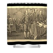 Declaration Of Independence In Sepia Shower Curtain