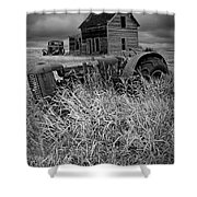 Decline Of The Small Farm No.2 Shower Curtain