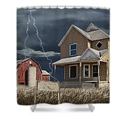 Decline Of The Small Farm Number 6 Version 2 Shower Curtain
