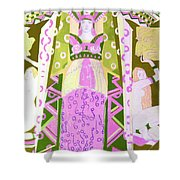 Deco Ladies Frostwork And Iris Shower Curtain