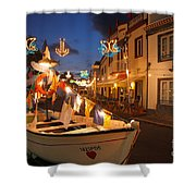 Decorated Fishing Boats Shower Curtain