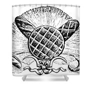 Decorative Cut: Bread Shower Curtain