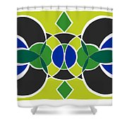 Decorative Tile Shower Curtain