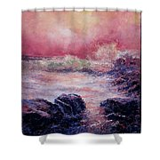 Dee Why Storm Shower Curtain