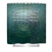 Deep Calls To Deep Shower Curtain by Christopher Gaston