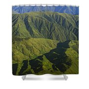 Deep Canyons Drain To Rio Apurimac Shower Curtain