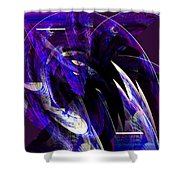 Deep Purple Abstract Shower Curtain