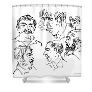 Deepfreeze-s.pole-art6 Shower Curtain