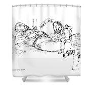 Deepfreeze-s.pole-art7 Shower Curtain