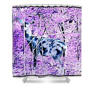Deer In The Woods Inverted Negative Image Shower Curtain