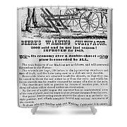Deere Plow, 1869 Shower Curtain