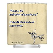 Definition Of Wine Shower Curtain by Elaine Plesser