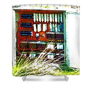 Defused Box Shower Curtain