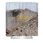 Degassing North Crater With Fumarolic Shower Curtain