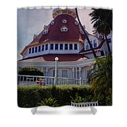 Del Coronado Hotel San Diego  Shower Curtain