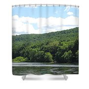 Delaware Water Gap Scenery Shower Curtain