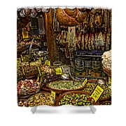Deli In Palma De Mallorca Spain Shower Curtain by David Smith
