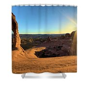 Delicate Arch Bowl Shower Curtain