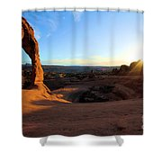 Delicate Arch Bowl Starburst Shower Curtain