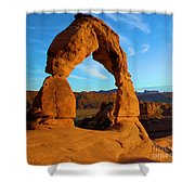 Delicate Arch Portrait Shower Curtain