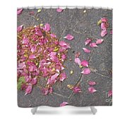 Delicate Floral Swirls Shower Curtain