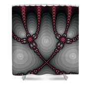 Delicate Red Shower Curtain