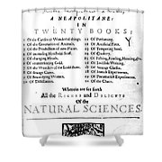 Della Portas Natural Magick, 1658 Shower Curtain