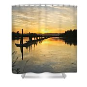 Delta Sunset Shower Curtain
