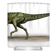 Deltadromeus Agilis, A Prehistoric Era Shower Curtain