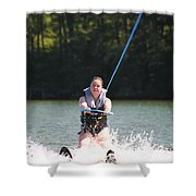 Demi Skiing Shower Curtain